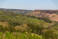 Landschaft im Nord-York macht Nationalpark, Großbritannien fest Lizenzfreies Stockfoto