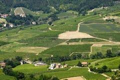 Landschaft im Oltrepo Pavese (Italien) Lizenzfreie Stockfotos
