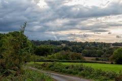 Landschaft im Süden westlich von Frankreich stockfotografie
