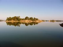 Landschaft im Sonnenaufgang Lizenzfreies Stockfoto