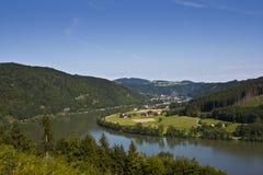Landschaft im untereren Bayern Stockfotografie