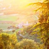 Landschaft im Vorort von Bergamo Lizenzfreie Stockfotografie