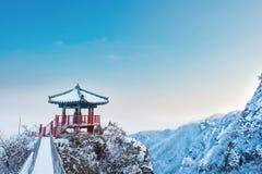 Landschaft im Winter, Guemosan in Korea Lizenzfreies Stockbild