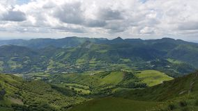 Landschaft im zentralen Gebirgsmassiv Lizenzfreie Stockbilder