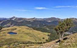 Landschaft im zentralen Gebirgsmassiv in Frankreich Lizenzfreie Stockfotografie