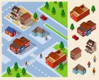 Landschaft isometrisch. Stockbilder
