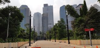 Landschaft Jakarta stockfoto