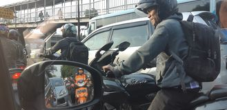 Landschaft Jakarta lizenzfreie stockbilder