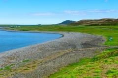 Landschaft, Küstenlinie entlang der Skagafjordur-Bucht Stockfotos