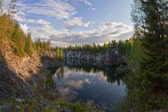 Landschaft in Karelien im Sommer Lizenzfreie Stockfotografie