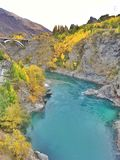 Landschaft an Kawarau-Brücke (AJHackett) Bungy Lizenzfreie Stockbilder