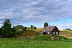 Landschaft, ländliches Haus, ländliche Landschaft Lizenzfreie Stockfotos