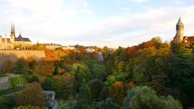 Landschaft in Luxemburg-Stadt stock footage