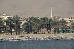 Landschaft Luxor-Nil   Stockbild