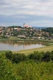 Landschaft mit Abtei Lizenzfreie Stockbilder