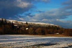 Landschaft mit Abtei im Fort Augustus Stockfotos