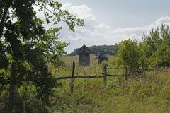 Landschaft mit alten Tausendsteln stockfotografie