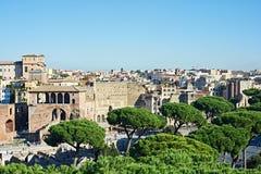 Landschaft mit Ansichten der Stadt Rom Lizenzfreie Stockbilder