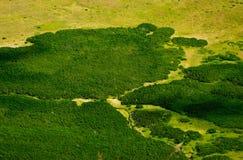 Landschaft mit Antenne Lizenzfreie Stockfotografie