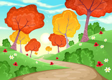 Landschaft mit Bäumen stock abbildung