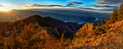 Landschaft mit Berge Stockbild