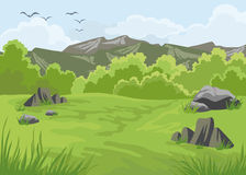 Landschaft mit Bergen Lizenzfreie Stockfotografie