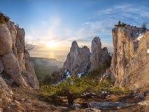 Landschaft mit Bergspitzen Lizenzfreies Stockfoto