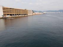 Landschaft mit Blick auf den Acapulco-Kreuzfahrtanschluß stockfotos
