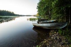 Landschaft mit Booten Lizenzfreies Stockfoto