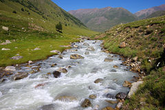 Landschaft mit dem Fluss Lizenzfreies Stockfoto