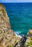 Landschaft mit dem Ozeanufer in Asturien, Spanien Stockbild