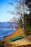 Landschaft mit einem Boot. Stockfotos