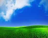 Landschaft mit einem cloudly Himmel Lizenzfreies Stockfoto