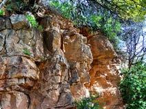 Landschaft mit einem Felsen Lizenzfreies Stockfoto