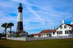 Landschaft mit einem Leuchtturm Lizenzfreies Stockbild