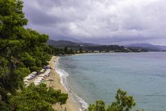 Landschaft mit einem schönen Küstenbild Stockfotos