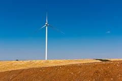 Landschaft mit einer Windmühle Stockfotos