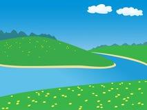 Landschaft mit Fluss Lizenzfreie Stockfotografie