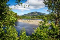 Landschaft mit Fluss Stockbild