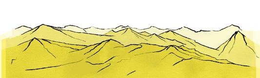 Landschaft mit Gebirgszügen Stockfotos