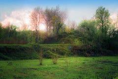 Landschaft mit grünem Hügel Lizenzfreies Stockbild