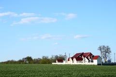Landschaft mit Haus stockfoto