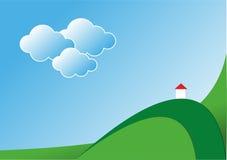 Landschaft mit Kapelle Lizenzfreies Stockbild