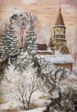 Landschaft mit Kirche Lizenzfreie Stockfotografie