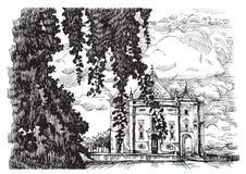 Landschaft mit Kirche, Portugal Stockbilder