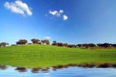 Landschaft mit klaren Farben Lizenzfreie Stockfotos