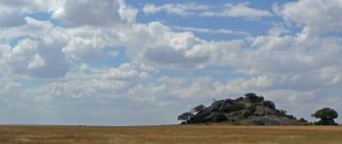 Landschaft mit Kopje - Serengeti (Tanzania, Afrika) Lizenzfreies Stockfoto