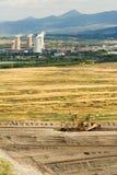 Landschaft mit mineralgewinnender Industrie lizenzfreies stockfoto