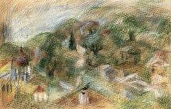 Landschaft mit Olivenbäumen Lizenzfreie Stockbilder