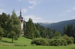 Landschaft mit Peles Schloss Lizenzfreies Stockbild